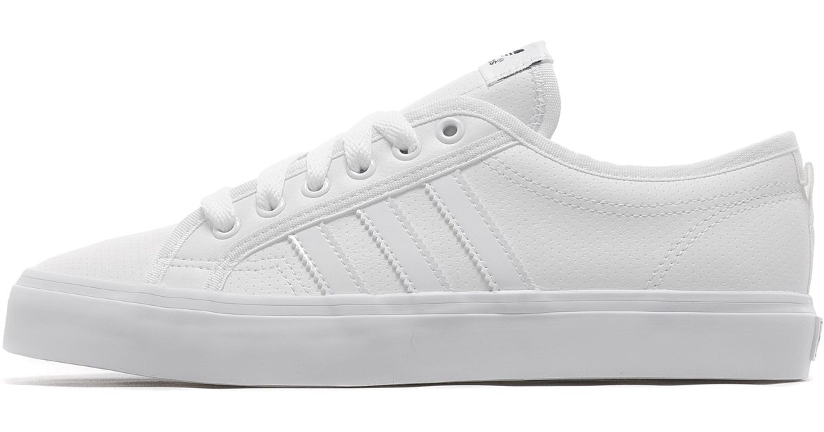 new product b005d 7167a Lyst - adidas Originals Nizza Lo in White for Men
