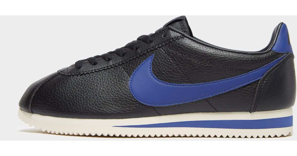 various colors fashion on feet images of Nike Blue Cortez Se Leather for men