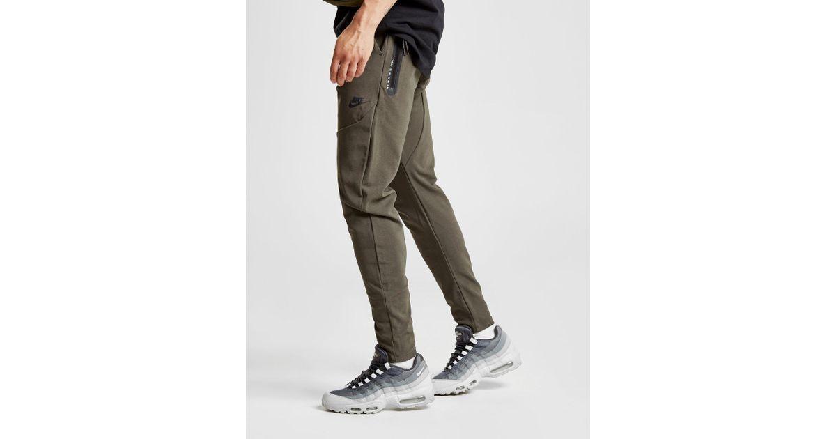 Nike Synthetic Sportswear Tech Track Pants In Green For Men Lyst