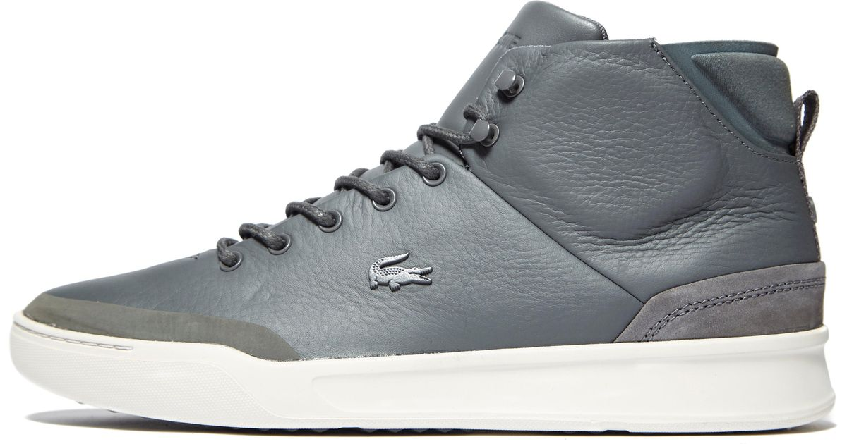 07e364436ee36 Lyst - Lacoste Explorateur Classic High Tops in Gray for Men