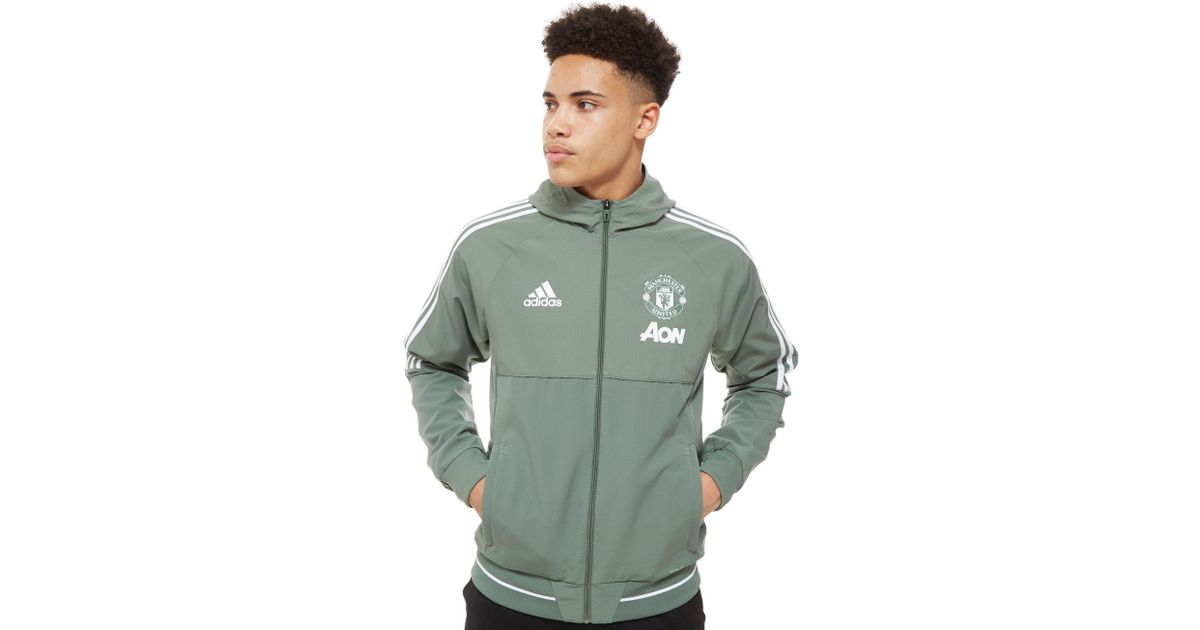 a37e6c1ad1c adidas Manchester United Fc Presentation Jacket in Green for Men - Lyst