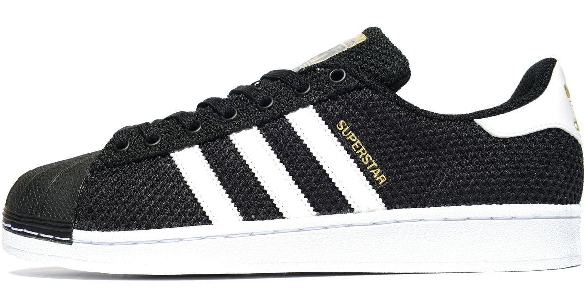adidas Originals Rubber Superstar Knit in Black/White (Black) for ...