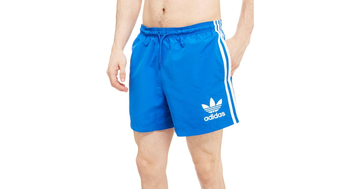 98ef751284 adidas Originals California Swimshorts in Blue for Men - Lyst