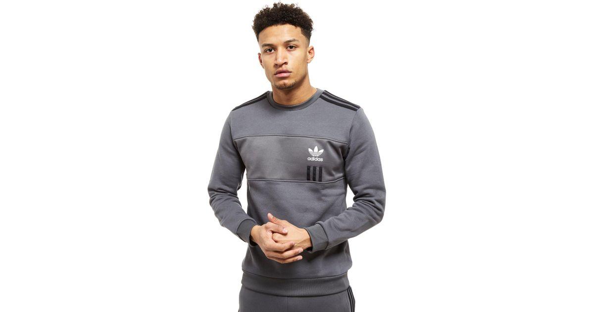 Adidas Originals Gray Id96 Crew Sweatshirt for men