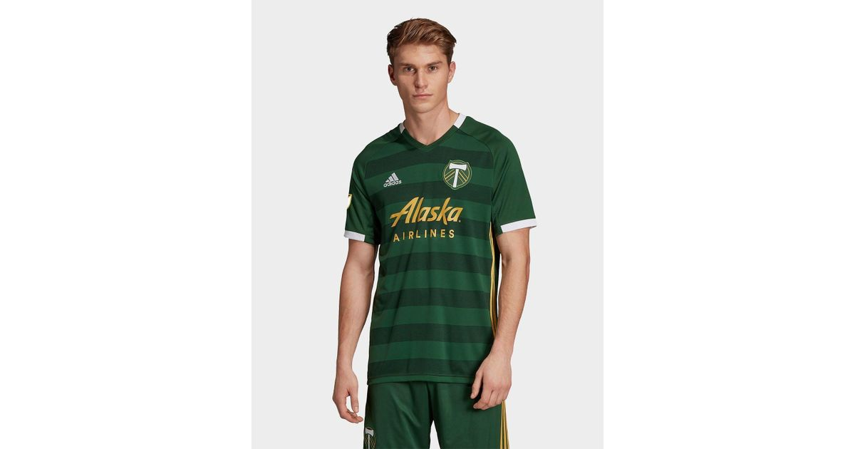 new products e77eb 66a8e Adidas Originals - Green Portland Timbers Home Jersey for Men - Lyst