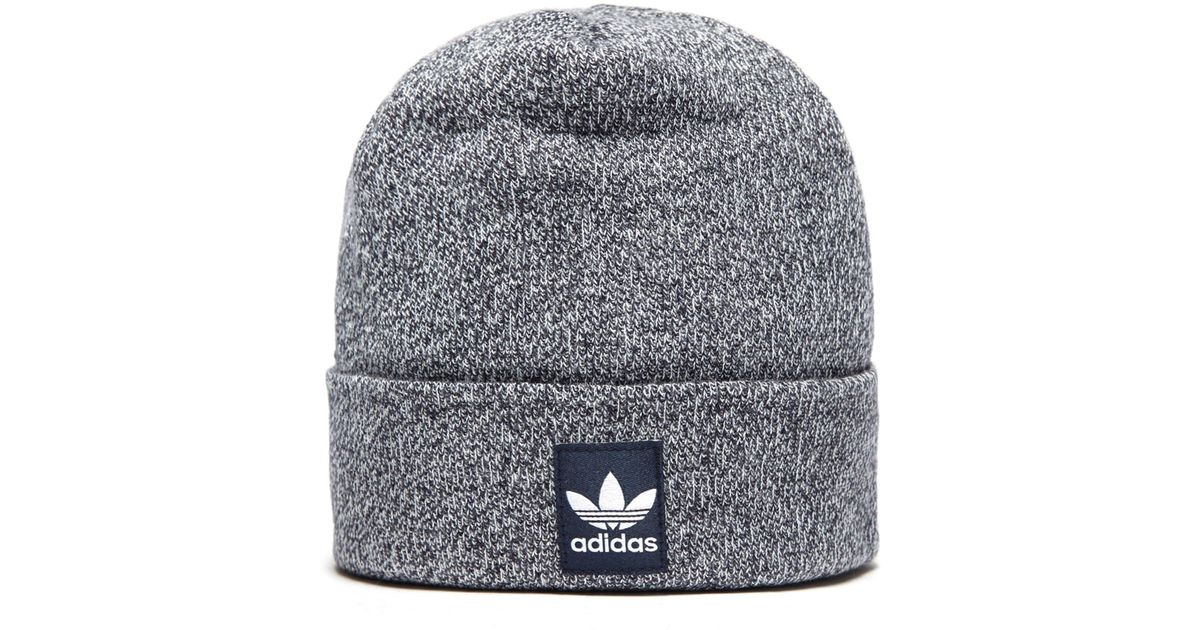 8742d21d4 adidas Originals Ribbed Logo Beanie in Blue for Men - Lyst