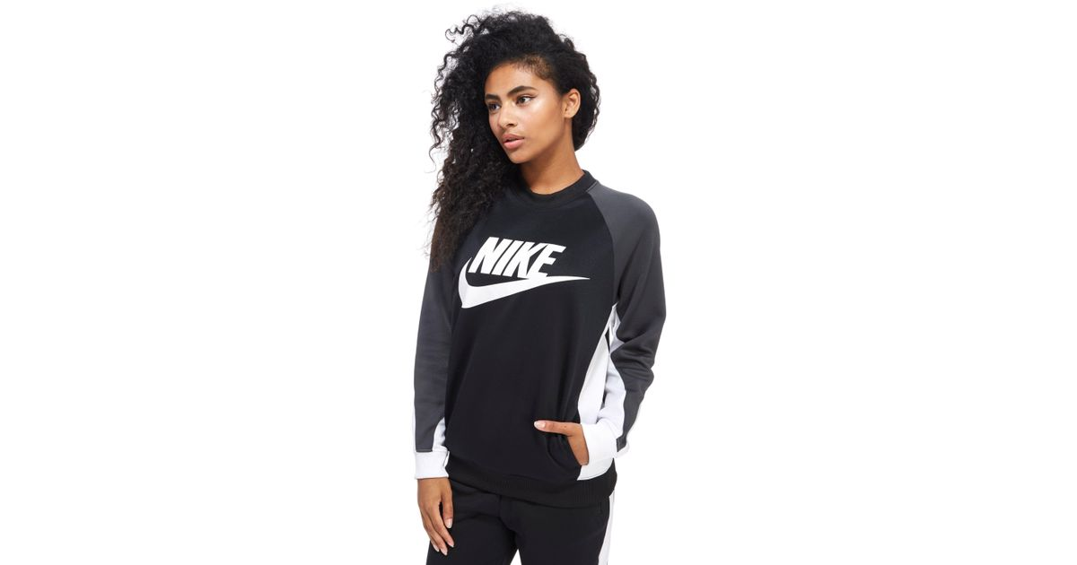 Block Poly Colour Crew Sweater Black Nike HWIED29Y