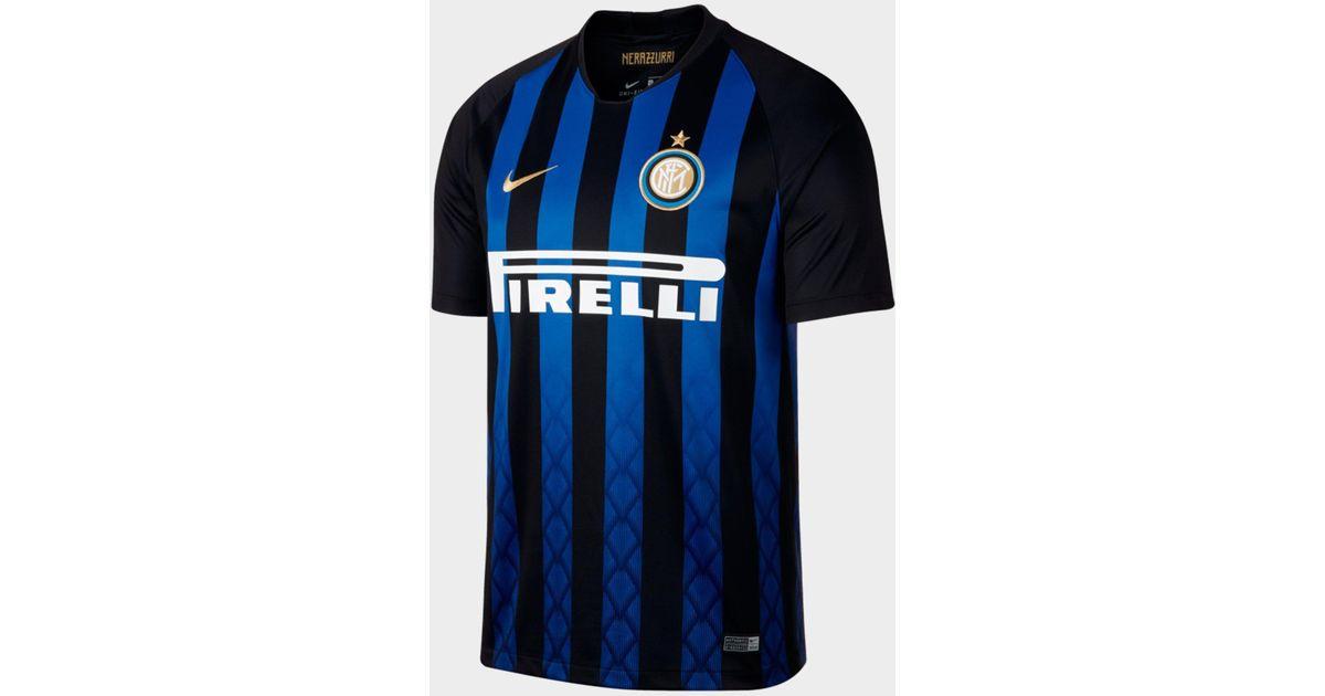 ae48d9d609a Nike 2018/19 Inter Milan Stadium Home Men's Soccer Jersey in Blue for Men -  Lyst