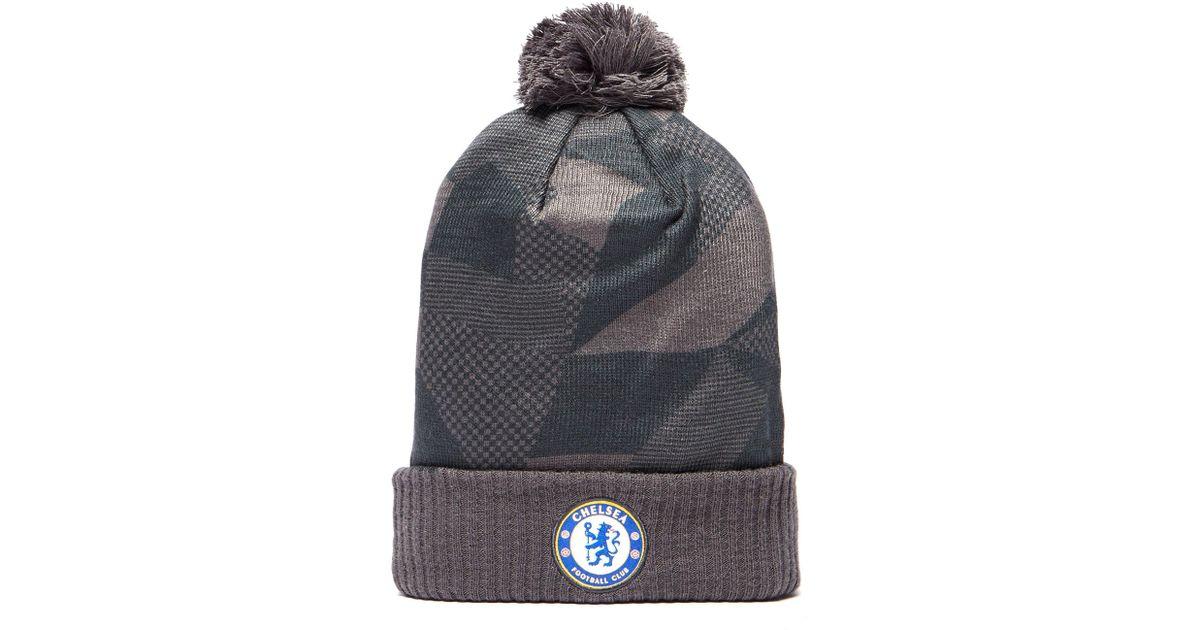 57658a437 Nike Gray Chelsea Fc Beanie Hat