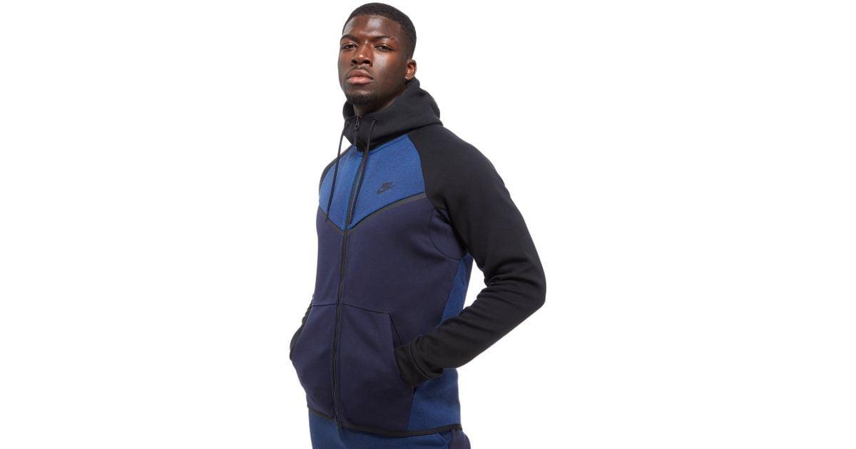 Nike Tech Fleece Windrunner Hoody In Navy Blue Blue For Men Lyst