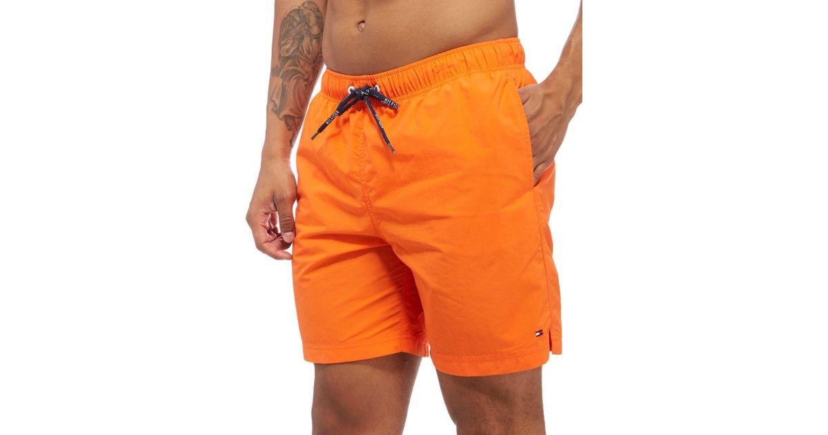 Tommy Hilfiger Medium Drawstring swim shorts blue orange