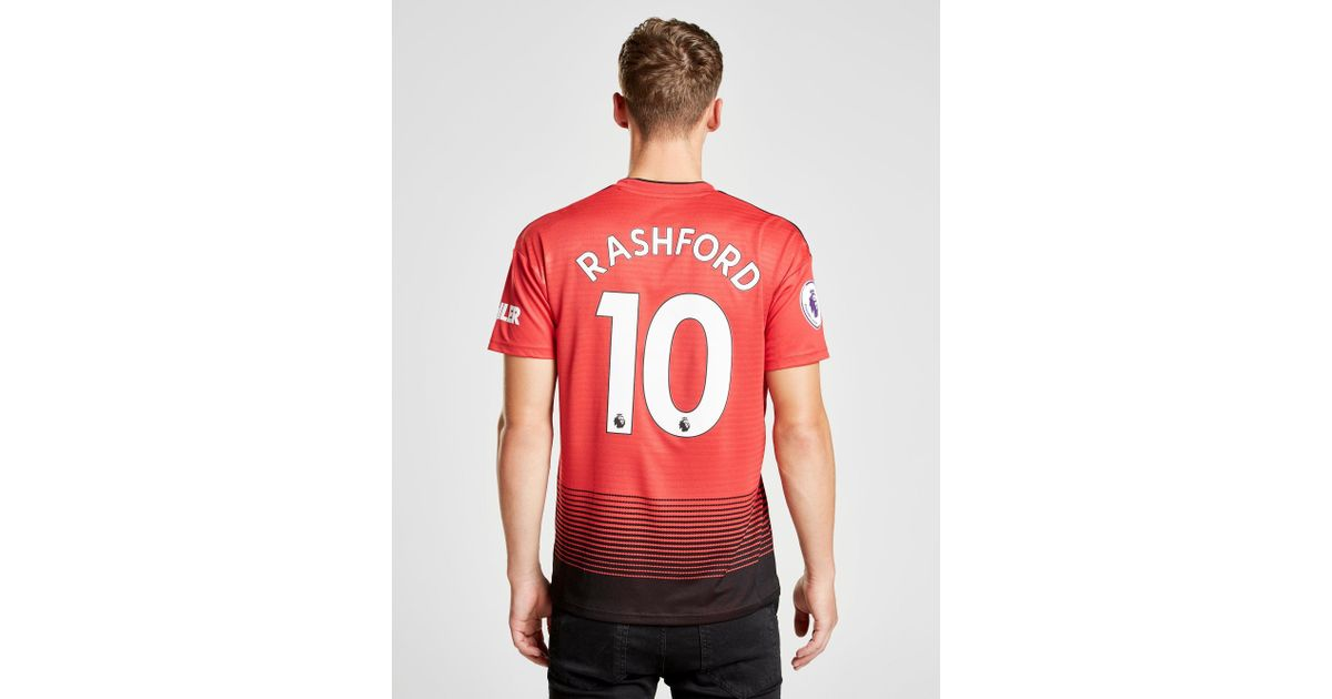 best loved 060d5 07841 Adidas Red Manchester United 2018/19 Rashford #10 Home Shirt for men
