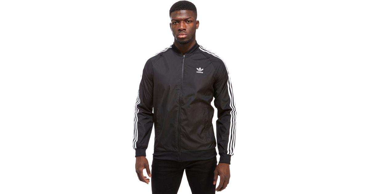 acb9835c7 Lyst - adidas Originals Superstar Woven Jacket in Black for Men