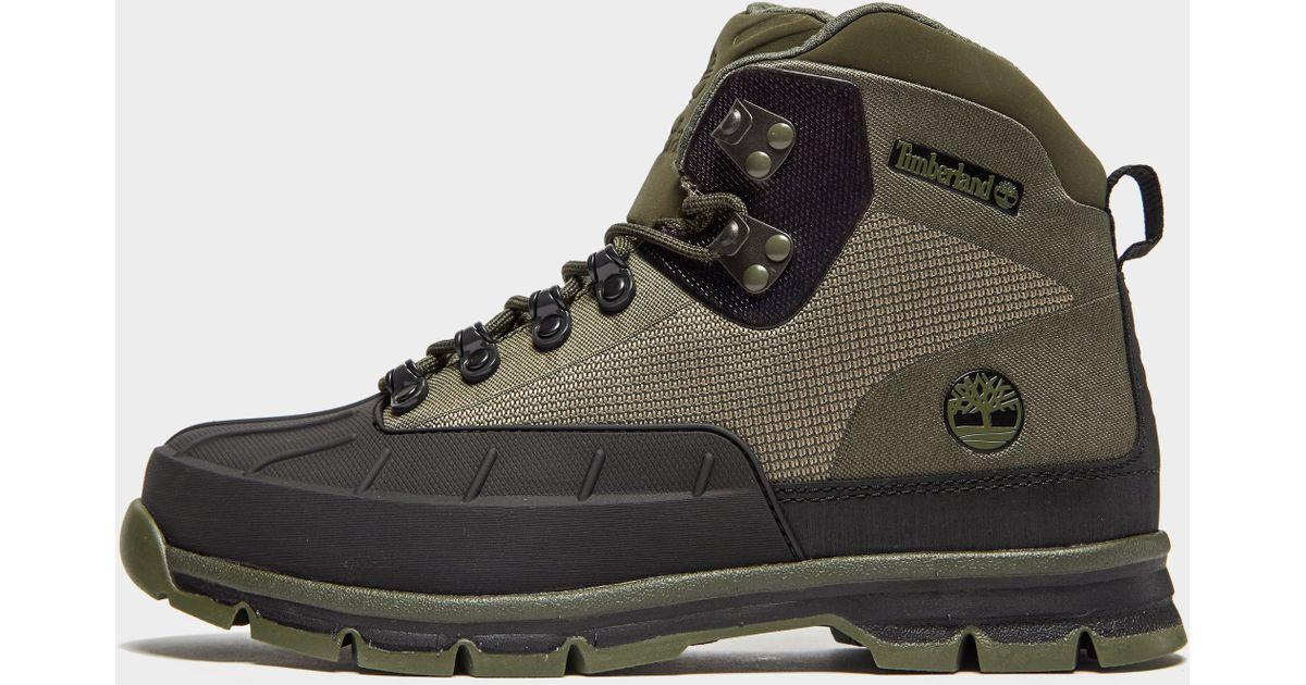 18d66964d98 Timberland Euro Hiker Shell Toe Jacquard Shoes Dark Green 2018 for men