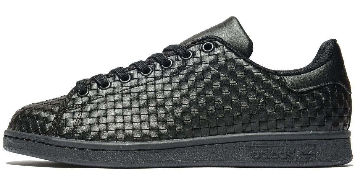 Adidas Originals Black Stan Smith Weave for men