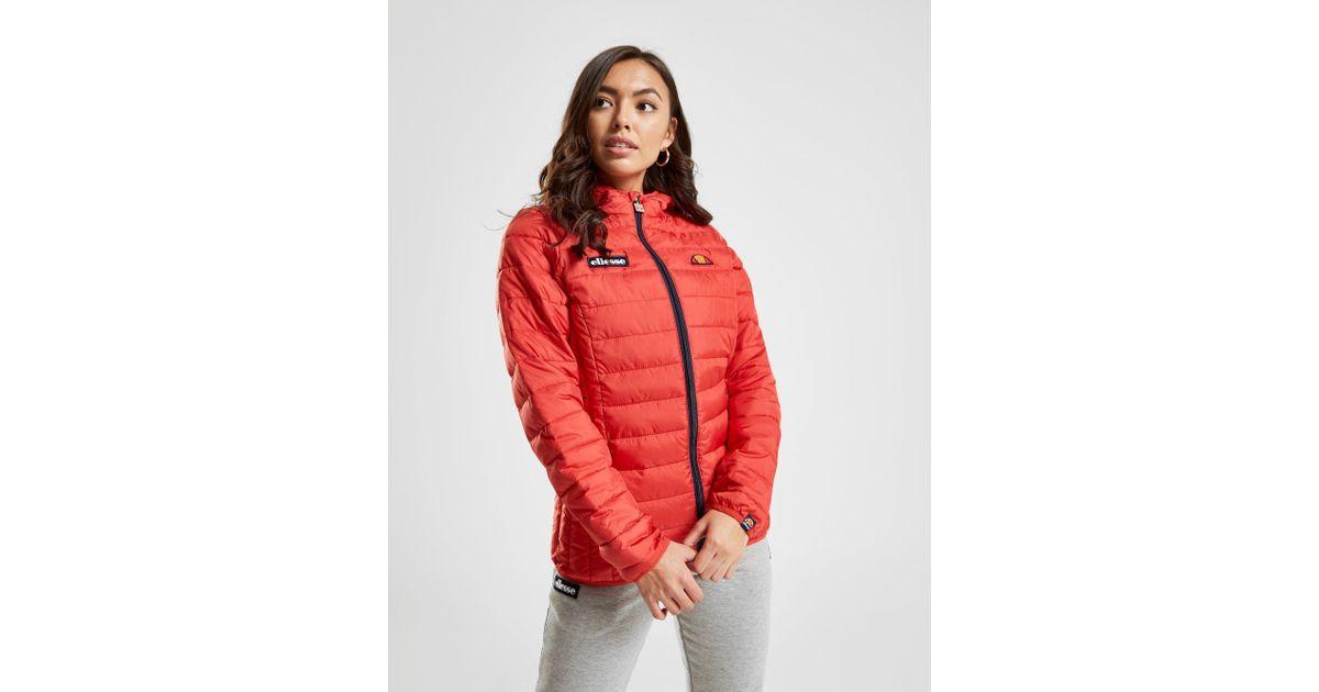 0b2f6539b8e4 Ellesse - Red Lompard Padded Jacket - Lyst