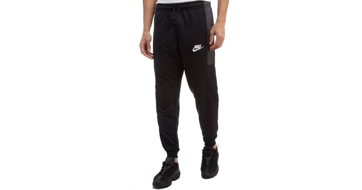 ef585db037 Lyst - Nike Season Colourblock Poly Track Pants in Black for Men