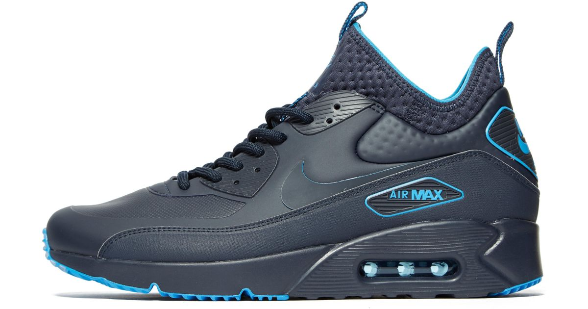 online store 07562 a7b5f Nike - Blue Air Max 90 Ultra Mid Winter Se for Men - Lyst