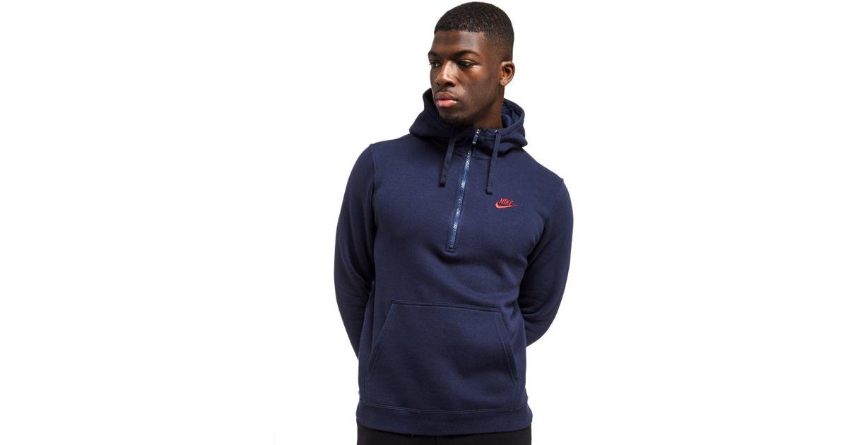 nike foundation half zip hoodie