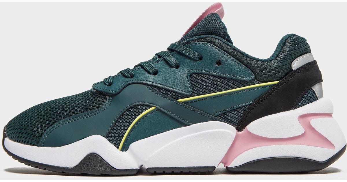 6071b1e2a Nova Mesh para mujer PUMA de color Verde - Lyst