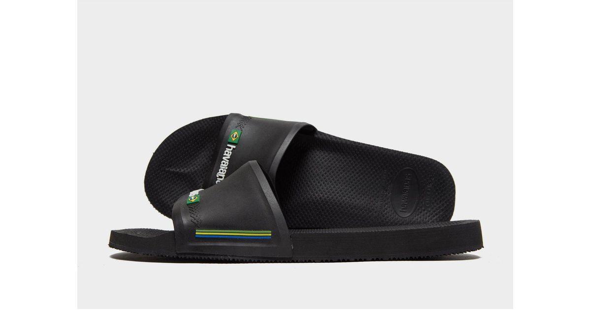 26bcbbff8da4 Havaianas Slides in Black for Men - Save 23% - Lyst