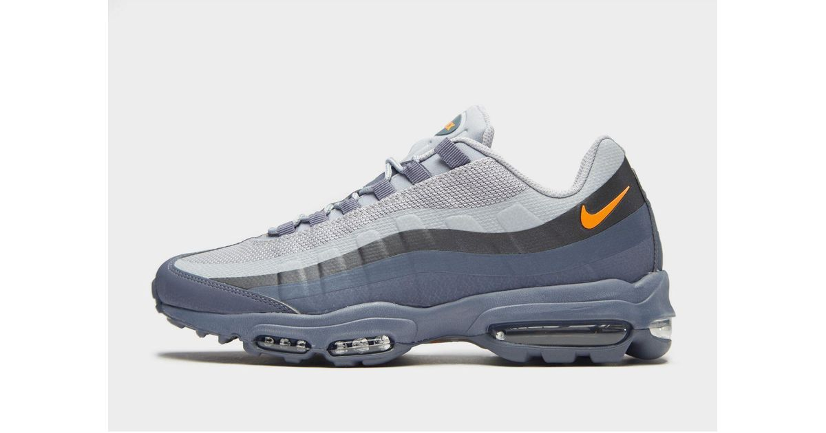 Nike Synthetic Air Max 95 Ultra Se In Grey Blue Orange Blue For