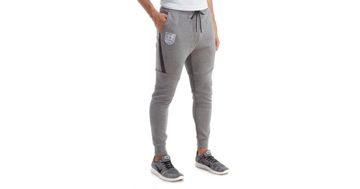Nike England Tech Fleece Pants In Grey Gray For Men Lyst