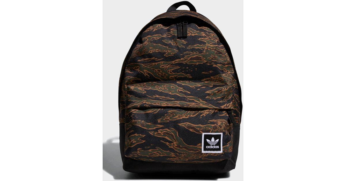 Adidas Tiger Camouflage Backpack in Black for Men - Lyst 540d121ea56ea