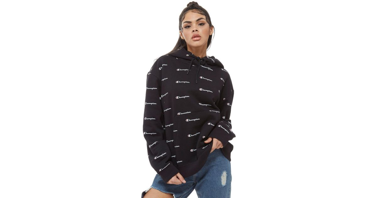 New The North Face Women's All Over Print Logo Boyfriend Hoodie White