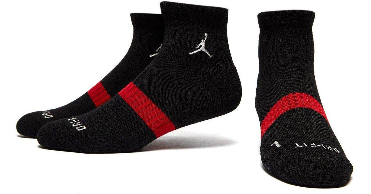 cd711d39e359ce Lyst - Nike 3 Pack Drift Low Quarter Socks in Black for Men - Save 6%