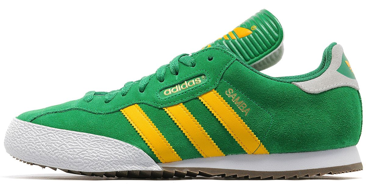 best prices genuine shoes free shipping Adidas Originals Green Samba Super for men