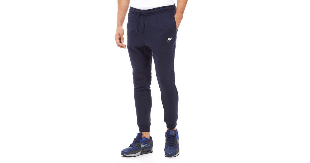 8830d5a7ea16f Nike Foundation Fleece Pants in Blue for Men - Lyst
