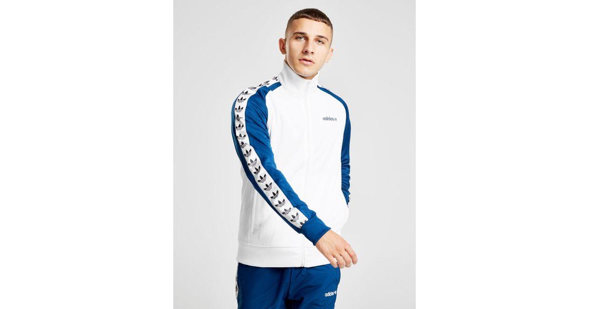 21cb41c761c adidas Originals Tape Track Top in Blue for Men - Lyst