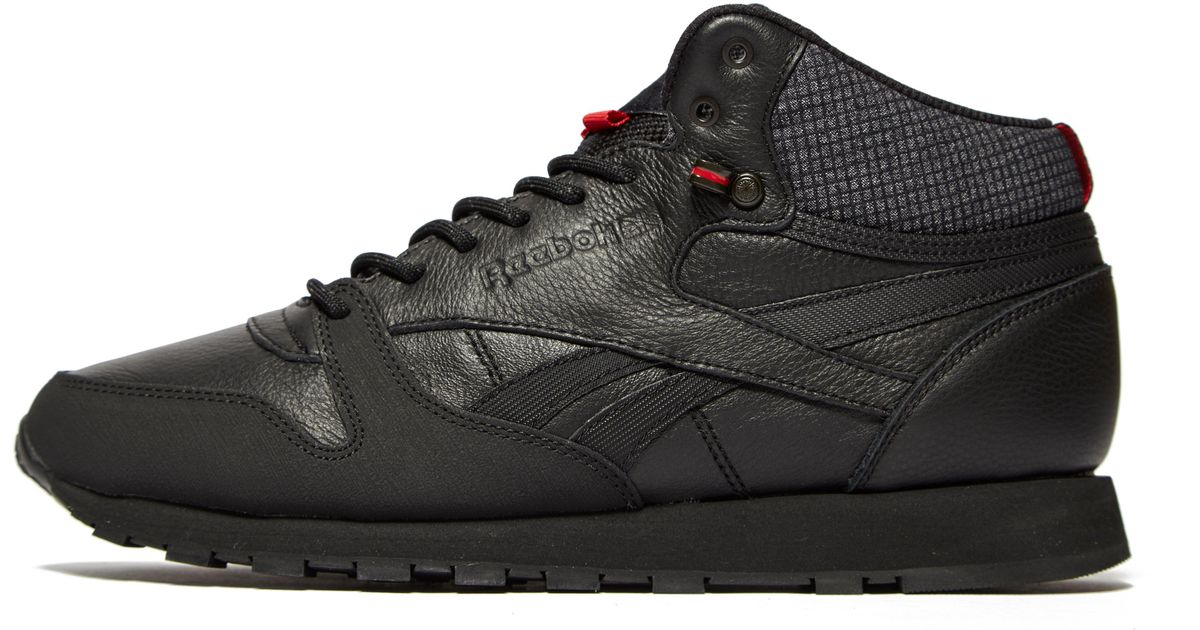 99118f8c67f Lyst - Reebok Classic Leather Mid in Black for Men