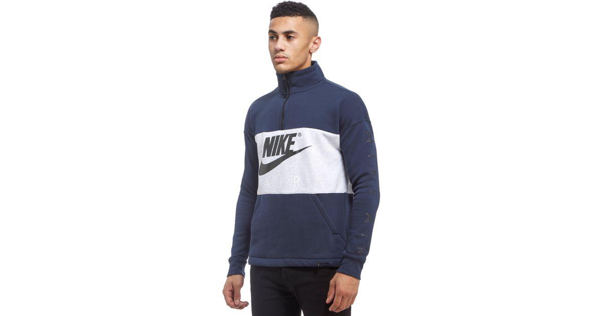 nike 1/2 zip fleece hoodie