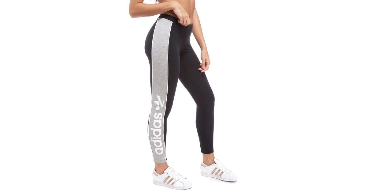 2dc69f2275a adidas Originals Linear Leggings in Black - Lyst