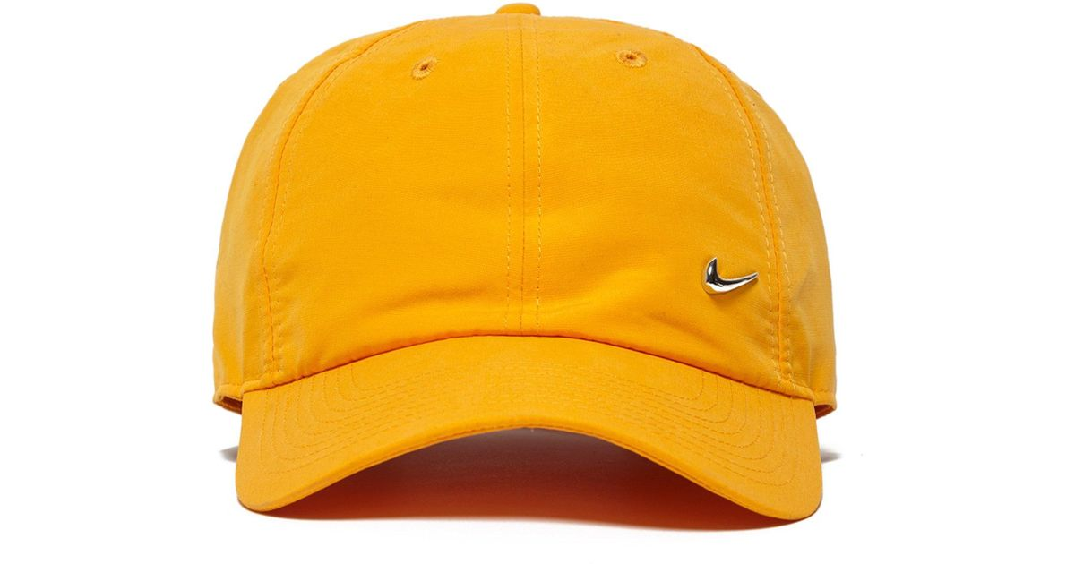 3a6761fcb11da ... best lyst nike metal swoosh cap in orange 340225 804 in orange for men  387fe 059d3
