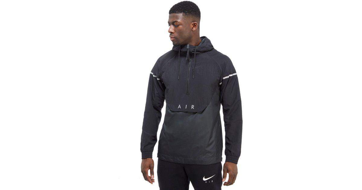 Hybrid Woven Nike Air 12 For Men Black Jacket Zip Ib6Yg7fvy