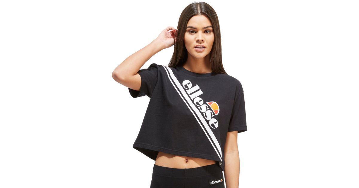 19b1d53324 Ellesse Black Stripe Crop T-shirt