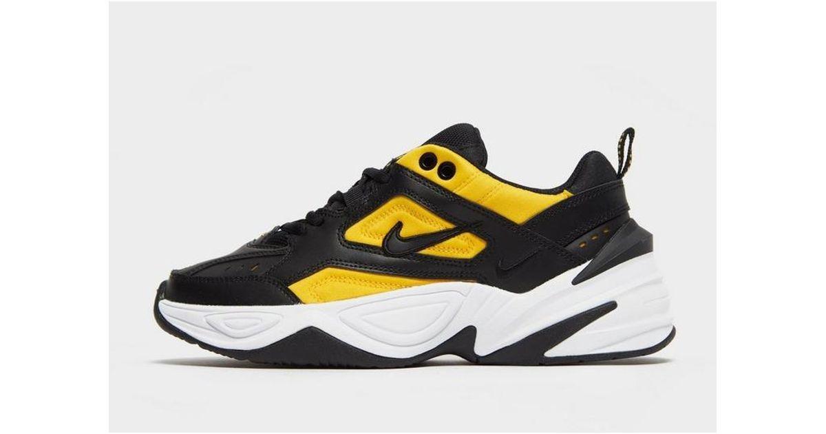 Nike Leather M2k Tekno in Black/Yellow