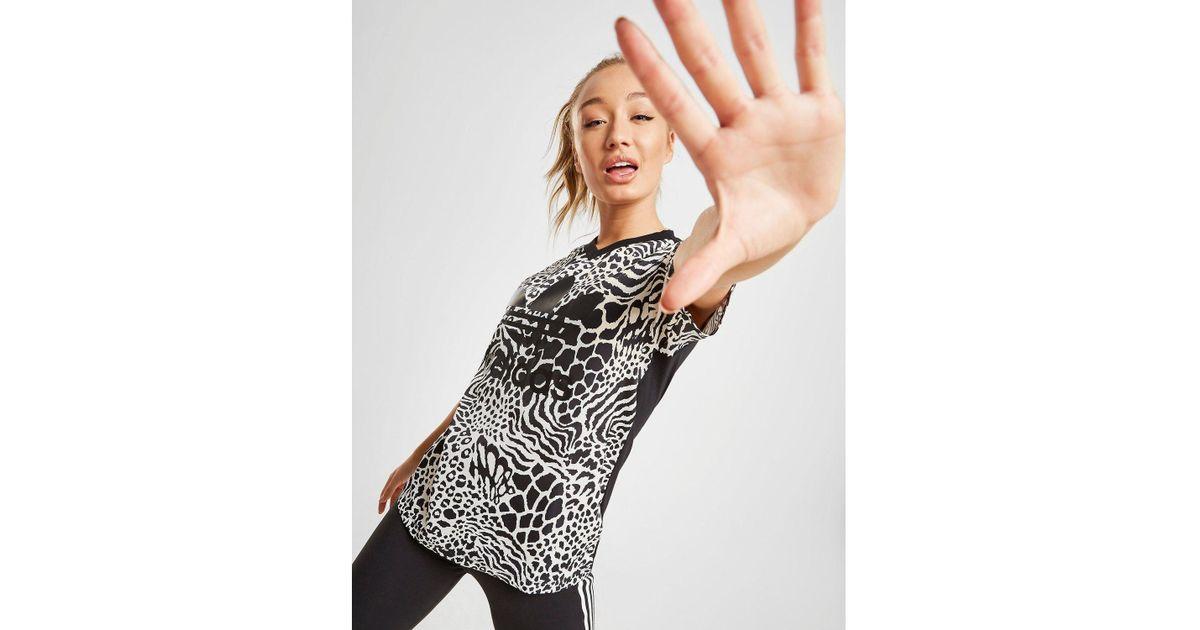 adidas Originals All Over Print Trefoil Boyfriend T Shirt