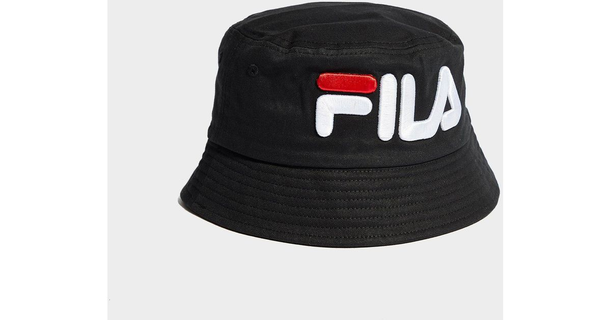 Fila Beefie Bucket Hat in Black - Lyst a378298807df