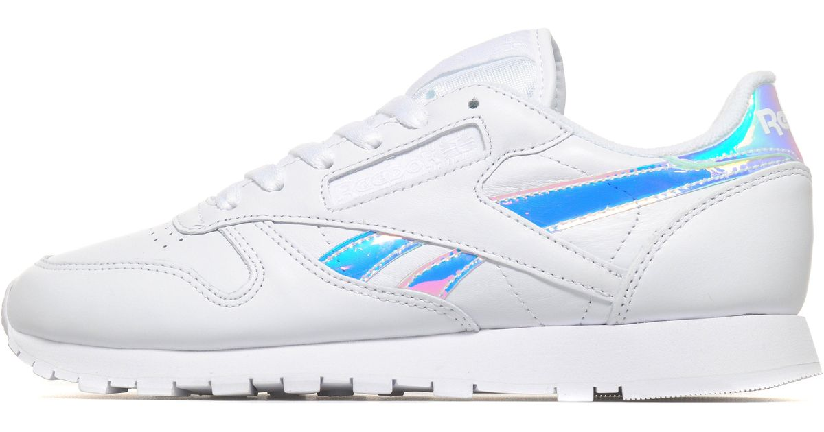 Presa aceptar Pelágico  Reebok Classic Leather Iridescent in White - Lyst