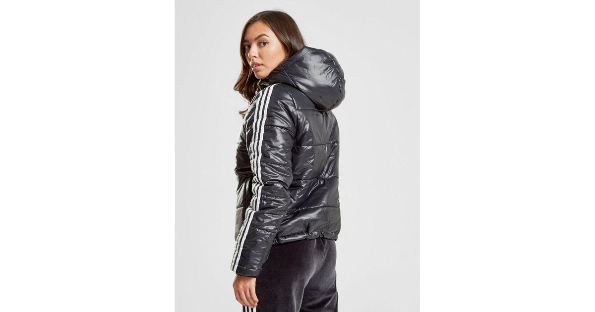 Details about New adidas Originals Women's 3 Stripes Oversized Padded Jacket Black