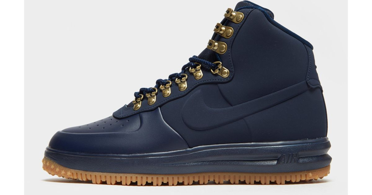 differently ca090 f7298 Nike Air Force 1 Mid Duck Boot in Blue for Men - Lyst