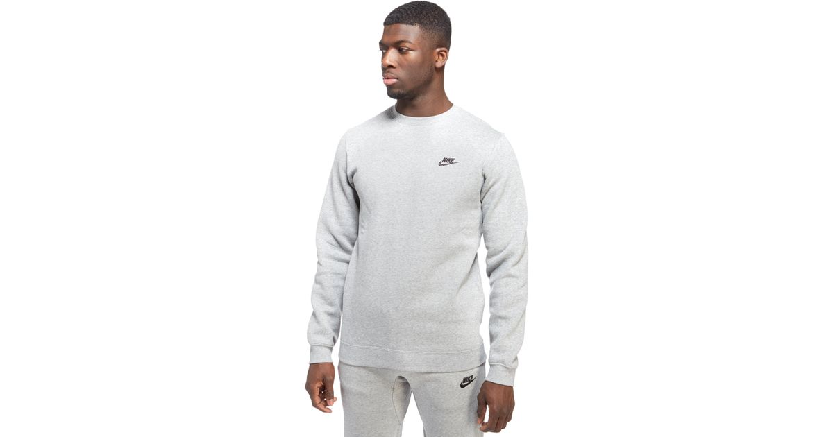 Resonar Mojado foro  Nike Cotton Foundation Crew Sweatshirt in Grey (Gray) for Men - Lyst