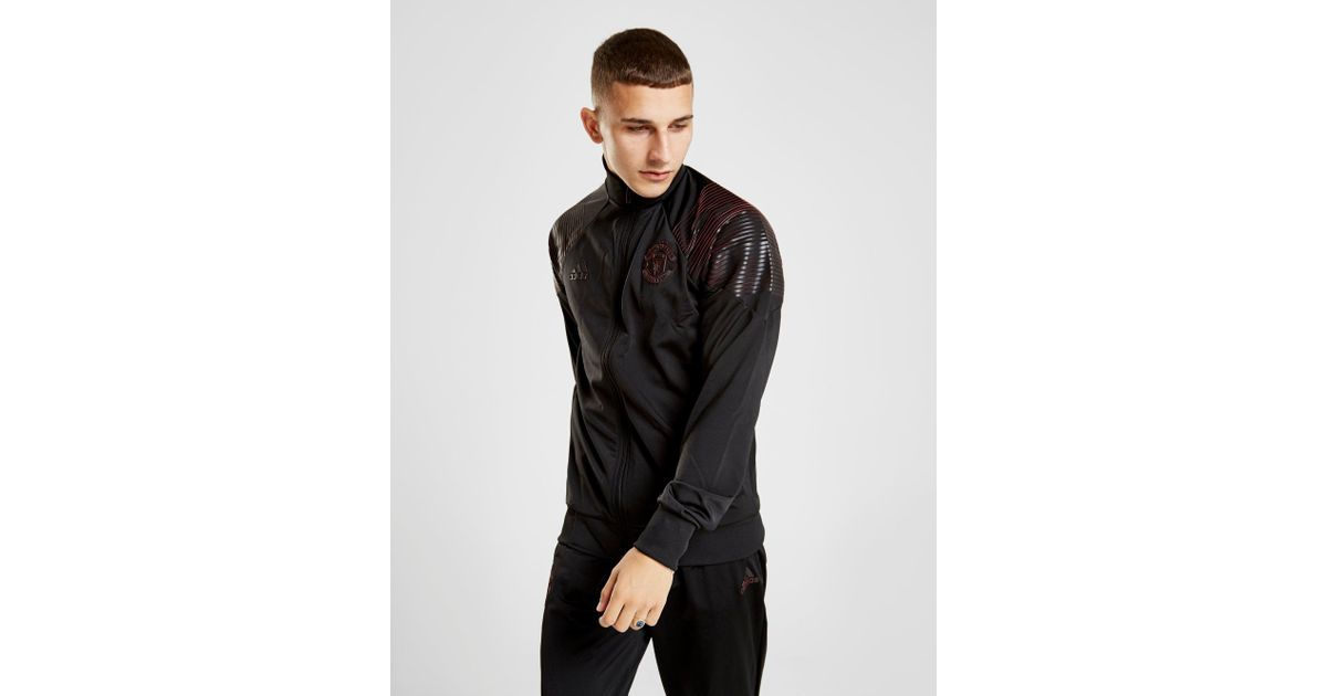 66f54ed0977 Lyst - adidas Manchester United Icon Track Jacket in Black for Men