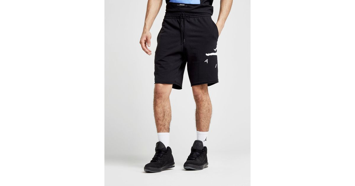 d2eb32a1738 Nike Jumpman Air French Terry Shorts in Black for Men - Lyst