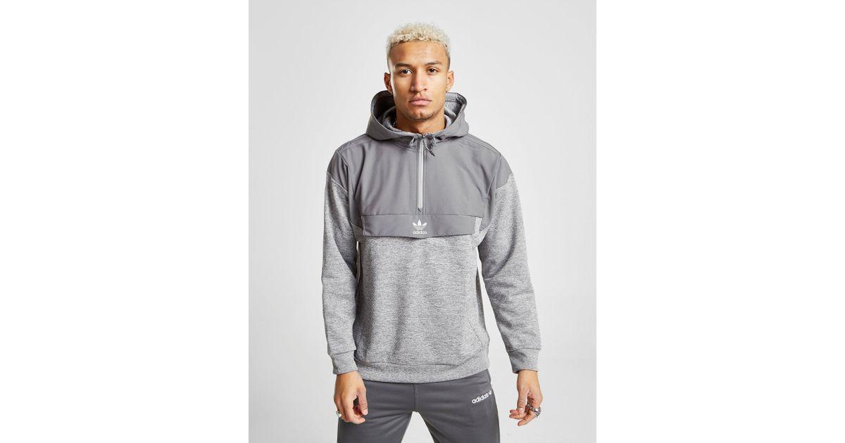 Cerco No complicado Consejo  adidas Originals Cotton Street Run Nova 1/2 Zip Hoodie in Grey (Gray) for  Men - Lyst