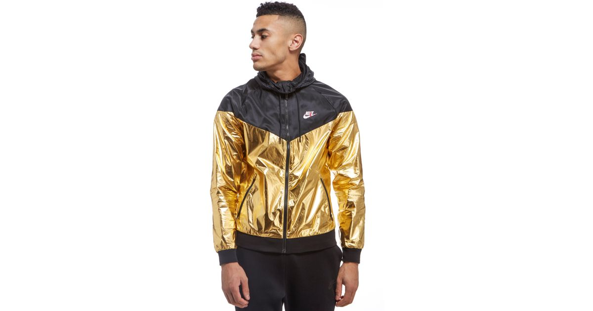 0b01b9fcde20 Lyst - Nike Windrunner Foil Jacket in Metallic for Men